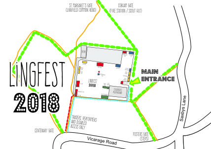 Lingfest main entry map
