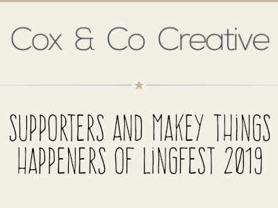 Cox and Co Creative, supporters and creatives for Lingfest
